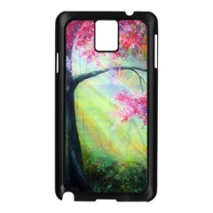 Forests Stunning Glimmer Paintings Sunlight Blooms Plants Love Seasons Traditional Art Flowers Sunsh Samsung Galaxy Note 3 N9005 Case (black)