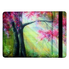 Forests Stunning Glimmer Paintings Sunlight Blooms Plants Love Seasons Traditional Art Flowers Sunsh Samsung Galaxy Tab Pro 12 2  Flip Case