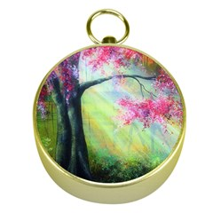 Forests Stunning Glimmer Paintings Sunlight Blooms Plants Love Seasons Traditional Art Flowers Sunsh Gold Compasses by BangZart