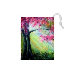 Forests Stunning Glimmer Paintings Sunlight Blooms Plants Love Seasons Traditional Art Flowers Sunsh Drawstring Pouches (small)