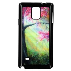 Forests Stunning Glimmer Paintings Sunlight Blooms Plants Love Seasons Traditional Art Flowers Sunsh Samsung Galaxy Note 4 Case (black) by BangZart