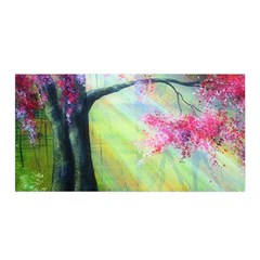 Forests Stunning Glimmer Paintings Sunlight Blooms Plants Love Seasons Traditional Art Flowers Sunsh Satin Wrap