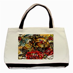 Flower Art Traditional Basic Tote Bag