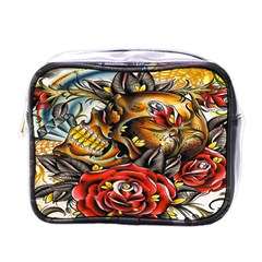Flower Art Traditional Mini Toiletries Bags by BangZart