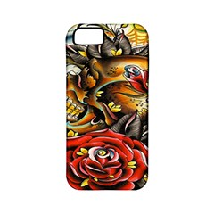 Flower Art Traditional Apple Iphone 5 Classic Hardshell Case (pc+silicone) by BangZart