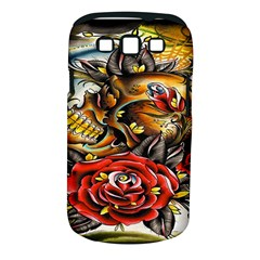 Flower Art Traditional Samsung Galaxy S Iii Classic Hardshell Case (pc+silicone)