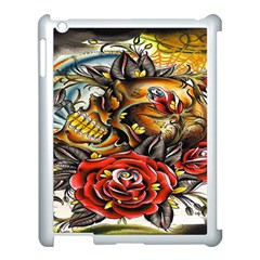 Flower Art Traditional Apple Ipad 3/4 Case (white)
