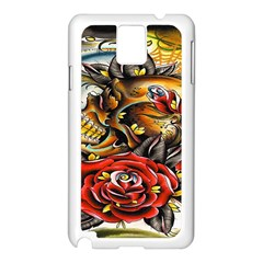 Flower Art Traditional Samsung Galaxy Note 3 N9005 Case (white)