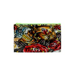 Flower Art Traditional Cosmetic Bag (xs)