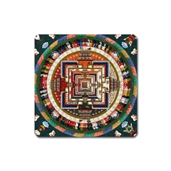 Colorful Mandala Square Magnet