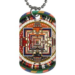 Colorful Mandala Dog Tag (one Side)