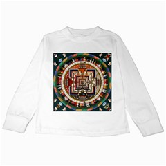 Colorful Mandala Kids Long Sleeve T Shirts