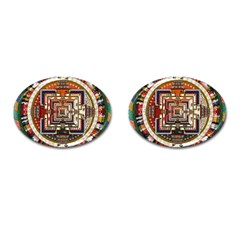 Colorful Mandala Cufflinks (oval) by BangZart