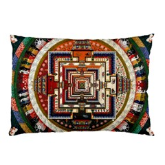 Colorful Mandala Pillow Case by BangZart