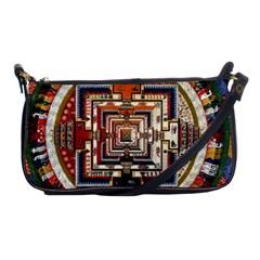 Colorful Mandala Shoulder Clutch Bags by BangZart