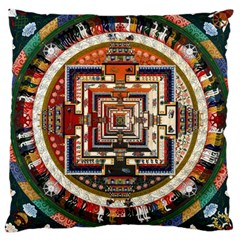 Colorful Mandala Large Cushion Case (two Sides)
