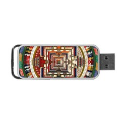 Colorful Mandala Portable Usb Flash (two Sides)