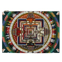 Colorful Mandala Cosmetic Bag (xxl)