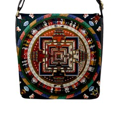 Colorful Mandala Flap Messenger Bag (l)