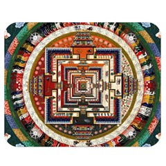 Colorful Mandala Double Sided Flano Blanket (medium)