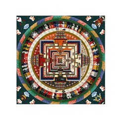 Colorful Mandala Small Satin Scarf (square)