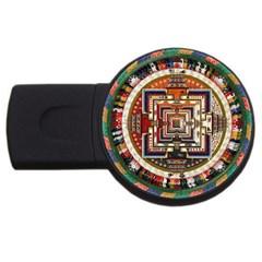 Colorful Mandala Usb Flash Drive Round (2 Gb)