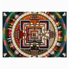 Colorful Mandala Large Glasses Cloth (2 Side)