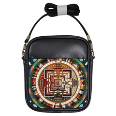 Colorful Mandala Girls Sling Bags