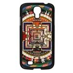 Colorful Mandala Samsung Galaxy S4 I9500/ I9505 Case (Black) Front