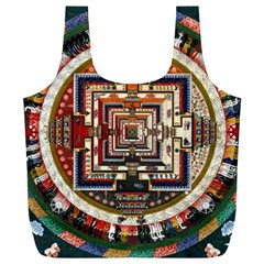 Colorful Mandala Full Print Recycle Bags (l)