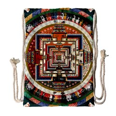 Colorful Mandala Drawstring Bag (large)