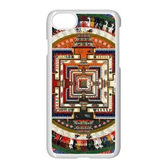 Colorful Mandala Apple Iphone 7 Seamless Case (white)