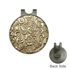Golden European Pattern Hat Clips With Golf Markers