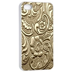 Golden European Pattern Apple Iphone 4/4s Seamless Case (white)