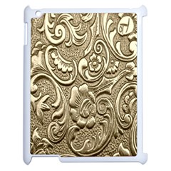 Golden European Pattern Apple Ipad 2 Case (white) by BangZart