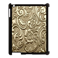 Golden European Pattern Apple Ipad 3/4 Case (black)