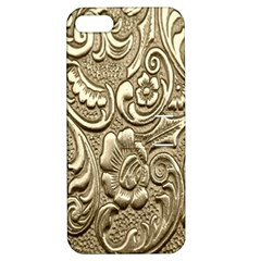 Golden European Pattern Apple Iphone 5 Hardshell Case With Stand