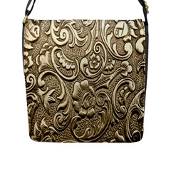 Golden European Pattern Flap Messenger Bag (l)  by BangZart