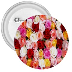 Rose Color Beautiful Flowers 3  Buttons