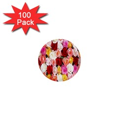 Rose Color Beautiful Flowers 1  Mini Buttons (100 Pack)