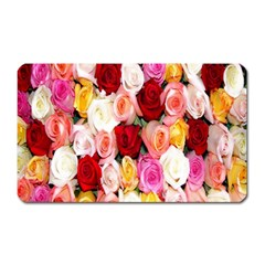 Rose Color Beautiful Flowers Magnet (rectangular) by BangZart
