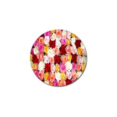 Rose Color Beautiful Flowers Golf Ball Marker (4 Pack) by BangZart