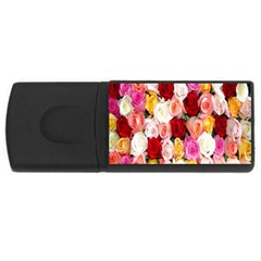 Rose Color Beautiful Flowers Rectangular Usb Flash Drive by BangZart