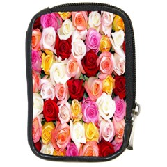 Rose Color Beautiful Flowers Compact Camera Cases by BangZart