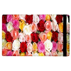 Rose Color Beautiful Flowers Apple Ipad 2 Flip Case by BangZart