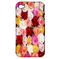 Rose Color Beautiful Flowers Apple Iphone 4/4s Hardshell Case (pc+silicone)