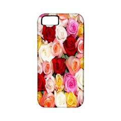 Rose Color Beautiful Flowers Apple Iphone 5 Classic Hardshell Case (pc+silicone) by BangZart