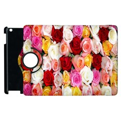 Rose Color Beautiful Flowers Apple Ipad 2 Flip 360 Case