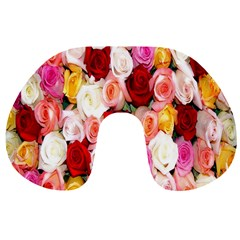 Rose Color Beautiful Flowers Travel Neck Pillows