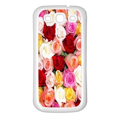 Rose Color Beautiful Flowers Samsung Galaxy S3 Back Case (white)